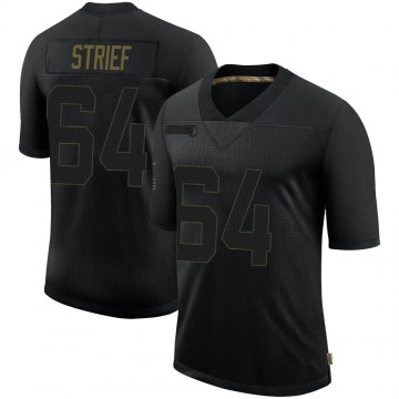 Youth Nike New Orleans Saints Zach Strief Black 2020 Salute To Service Jersey - Limited