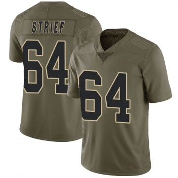 Youth Nike New Orleans Saints Zach Strief Green 2017 Salute to Service Jersey - Limited