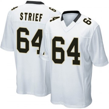 Youth Nike New Orleans Saints Zach Strief White Jersey - Game