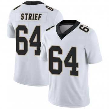 Youth Nike New Orleans Saints Zach Strief White Vapor Untouchable Jersey - Limited