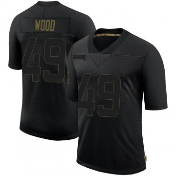 Youth Nike New Orleans Saints Zach Wood Black 2020 Salute To Service Jersey - Limited