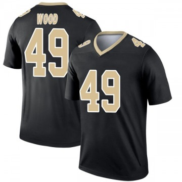 Youth Nike New Orleans Saints Zach Wood Black Jersey - Legend