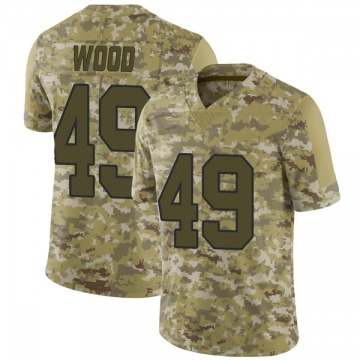 Youth Nike New Orleans Saints Zach Wood Camo 2018 Salute to Service Jersey - Limited