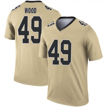 Youth Nike New Orleans Saints Zach Wood Gold Inverted Jersey - Legend