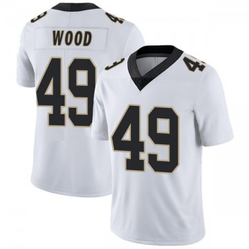 Youth Nike New Orleans Saints Zach Wood White Vapor Untouchable Jersey - Limited