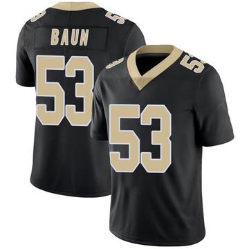 Youth Nike New Orleans Saints Zack Baun Black Team Color 100th Vapor Untouchable Jersey - Limited