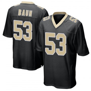 Youth Nike New Orleans Saints Zack Baun Black Team Color Jersey - Game