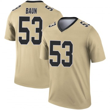 Youth Nike New Orleans Saints Zack Baun Gold Inverted Jersey - Legend