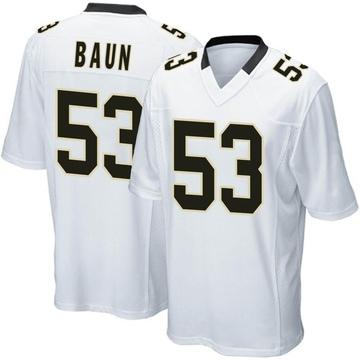Youth Nike New Orleans Saints Zack Baun White Jersey - Game