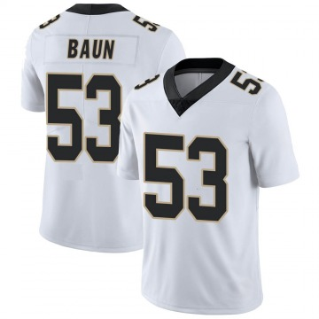 Youth Nike New Orleans Saints Zack Baun White Vapor Untouchable Jersey - Limited