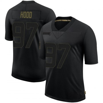 Youth Nike New Orleans Saints Ziggy Hood Black 2020 Salute To Service Jersey - Limited