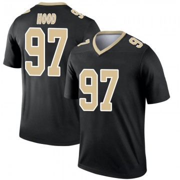 Youth Nike New Orleans Saints Ziggy Hood Black Jersey - Legend