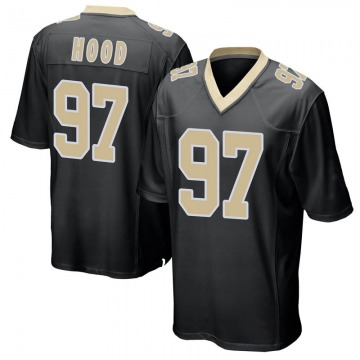 Youth Nike New Orleans Saints Ziggy Hood Black Team Color Jersey - Game