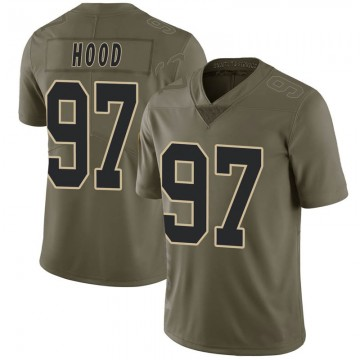 Youth Nike New Orleans Saints Ziggy Hood Green 2017 Salute to Service Jersey - Limited