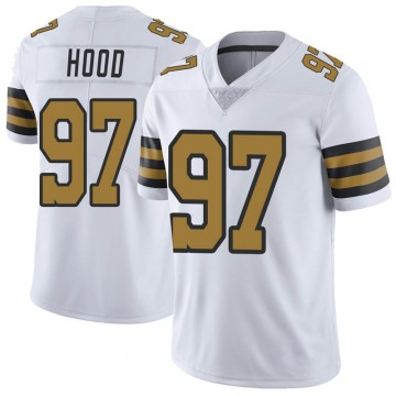 Youth Nike New Orleans Saints Ziggy Hood White Color Rush Jersey - Limited