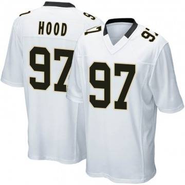 Youth Nike New Orleans Saints Ziggy Hood White Jersey - Game
